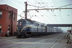 Pennsylvania Railroad GG1 #4800 in South Amboy, New Jersey on August 15, 1954.