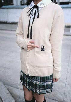 Cute school uniform featuring Spirited Away
