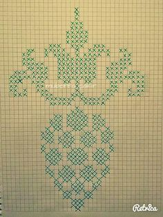 This Pin was discovered by Min Folk Embroidery, Ribbon Embroidery, Cross Stitch Embroidery, Embroidery Patterns, Stitch Patterns, Crochet Patterns, Filet Crochet Charts, Crochet Cross, Knitting Charts