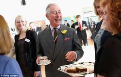 Prince of Wales is offered traditional Welsh Bara Brith after meeting pupils and teachers ...