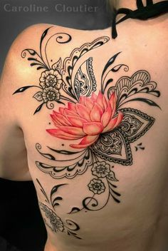 Tattoo cool tattoo ideas tattoo design cat tattoo flower tattoo wrist tattoo floral tattoo The post 60 charming tattoo inspiration. Page 15 of 62 appeared first on Best Tattoos. Form Tattoo, Shape Tattoo, Flower Tattoo Designs, Tattoo Designs For Women, Tattoo Floral, Lace Flower Tattoos, Tattoo Ideas Flower, Colorful Flower Tattoo, Tribal Tattoos For Women