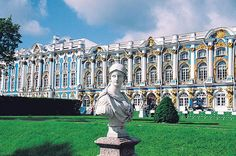Catherine Palace, in Tsarskoe Selo, near St. Petersburg, Russia.