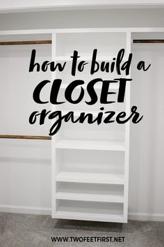 How to Build an Easy DIY Closet Organizer: Build to Organize Challenge Do you want an easy and budget-friendly closet system? Use this tutorial to see how to build a DIY closet organizer. This organizer is perfect for a s. Plywood Furniture, Cheap Furniture, Furniture Market, Deco Furniture, Repurposed Furniture, Furniture Stores, Industrial Furniture, Discount Furniture, Furniture Plans