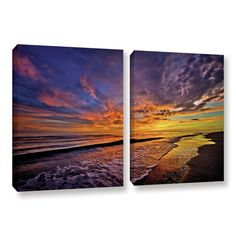 The Sunset by David Kyle 2 Piece Gallery-Wrapped Canvas Set