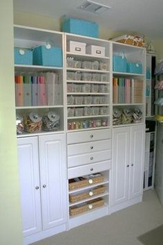Excellent cupboard idea for the sewing room. Exactly what I want !
