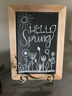 Hello Spring chalkboard 17 Tips Uncategorized Chalk art doodles Chalkboard Doodles, Chalkboard Art Quotes, Blackboard Art, Kitchen Chalkboard, Chalkboard Decor, Chalkboard Drawings, Chalkboard Lettering, Chalkboard Designs, Chalkboard Art Tutorial