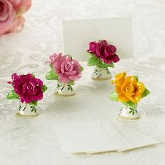Royal Albert Old Country Roses Set of 4 Place Card Holders at HSN.com