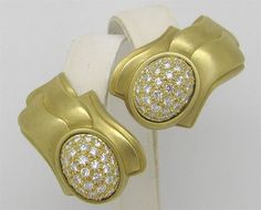 Kieselstein Cord Large 18k Gold 3.50 ctw Diamond Earrings 38.8 Grams RARE #KieselsteinCord