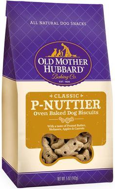 Old Mother Hubbard Crunchy Classic Natural Dog Treats, P-Nuttier Mini Biscuits, 5-Ounce Bag