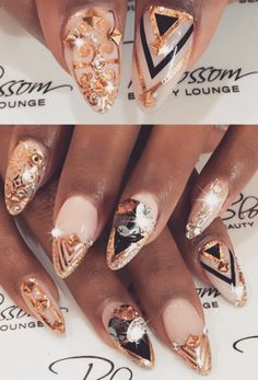 Bling nails How to accessorize your look Go to https://slimmingbodyshapers.com for plus size shapewear and bras #slimmingbodyshapers