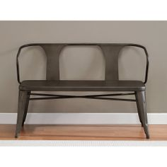 A rustic metal foyer bench: where modern industrial and comfortably ...