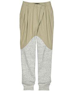 Cotton-blend parachute pants yummm