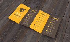 Restaurant Branding and UI/UX by Jekin Gala, via Behance #Menu #Design
