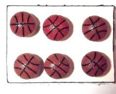 BASKETBALL SPORT 6 pc Handmade Decorative Bulletin Board Push Pin Thumb Tacks by CandCCraftSupplies on Etsy