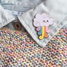 Rainbow Cloud Pin - Glitter Enamel Pin - Limited Edition by LittleDipperShop on Etsy https://www.etsy.com/listing/452130600/rainbow-cloud-pin-glitter-enamel-pin