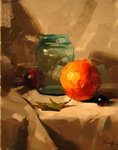 Qiang Huang - Figurative Painters. On my workshop teacher wish list. The values in that orange!