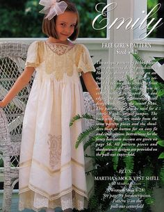 #74, 2001 - Emily Dress, sz. 4-12, designed by JoAn Hearn @Belinda Strickland - Oh. My. Word.