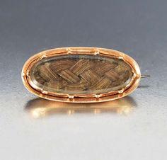 Georgian Victorian Rose Gold Hair Brooch Mourning Jewelry – Boylerpf