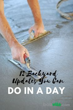 Looking for outdoor projects you can work on? Here are 12 budget-friendly DIY projects to try for your backyard. These DIY backyard projects are easy and simple to complete. Backyard Shade, Backyard Patio, Backyard Landscaping, Backyard Ideas, Landscaping Ideas, Landscaping Software, Porch Ideas, Diy Garden Projects, Outdoor Projects