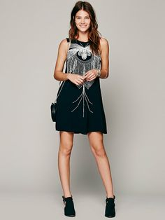 bless'ed are the meek Skeletal Beaded Dress at Free People Clothing Boutique