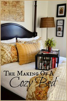 With the holiday's upon us and the weather getting nippy guest at StoneGable will want a cozy warm bed to crawl into at night! I've made up the bed ready for Thanksgiving guest… with lots of cuddly layers and soft warm fabrics. Here's how I pamper my guest… starting by making their bed… The wind …