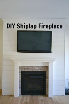 DIY Shiplap Fireplace Wall - Sweet Threads Design Co.
