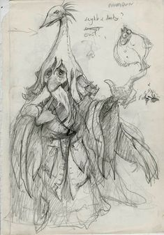 Brian Froud's concept art and sketches for the 1986 movie, Labyrinth. Brian Froud, Jim Henson Labyrinth, Labyrinth 1986, Labyrinth Tattoo, Anime Art Fantasy, Magical Creatures, Fantasy Creatures, Troll, Elves And Fairies