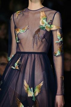 Lovely see thru dress..
