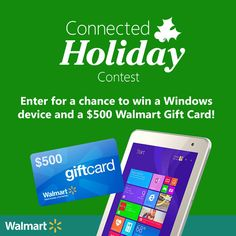"Microsoft holiday at Walmart! Win Windows devices and grand prize $500 Walmart GC & HP Stream 14"" Color #sponsored #WindowsHoliday"