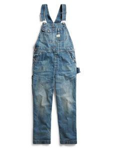 Ralph Lauren Rrl Denim Overall In Blue Japanese Denim, Japanese Cotton, Ralph Lauren Style, Polo Ralph Lauren, Brand Sale, Women Brands, Thighs, Overalls, Model