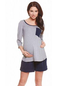 Těhotenské kraťasy s elastickým pasem modré barvy Tunic Tops, Women, Fashion, Moda, Fashion Styles, Fashion Illustrations, Woman