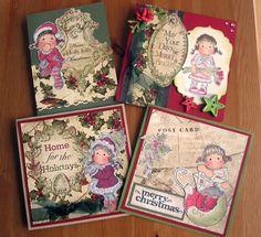 Magnolia Christmas Cards (paper: Bo Bunny)