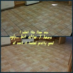 We cleaned and sealed the tile and grout on a kitchen floor in Lakewood, NJ.