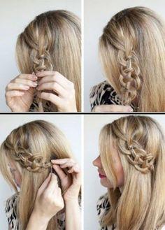 Trenza en círculo, encuentra más opciones en peinados con trenzas aquí http://www.1001consejos.com/peinados-con-diferentes-trenzas/