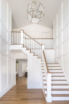 Diy Stairs Makeover Ideas Staircase Remodel 48 Ideas Stairs Makeover DIY ideas M., makeover ideas Diy Stairs Makeover Ideas Staircase Remodel 48 Ideas Stairs Makeover DIY ideas M. Modern Stair Railing, Stair Banister, Modern Stairs, Painted Stair Railings, Stairs Painted White, White Stairs, White Banister, White Walls, Entryway Stairs