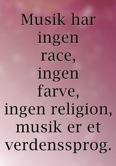 Musik er et verdenssprog