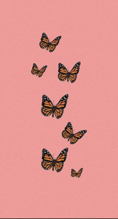 Iphone Wallpaper Vsco, Butterfly Wallpaper Iphone, Iphone Wallpaper Tumblr Aesthetic, Homescreen Wallpaper, Iphone Background Wallpaper, Aesthetic Pastel Wallpaper, Cellphone Wallpaper, Pink Wallpaper, Lock Screen Wallpaper