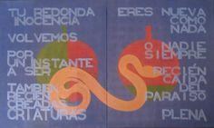 Oda a la Manzana / Ode to Apple Acrylic on canvas 109 x 66 cm