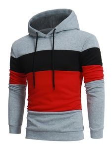 Brand 2018 Hoodie Color Stitching Hoodies Men Fashion Tracksuit Male S – noashe Hoodie Sweatshirts, Sports Sweatshirts, Grey Sweatshirt, Stitch Hoodie, Style Masculin, Colorful Hoodies, Hoodie Outfit, Swagg, Mantel