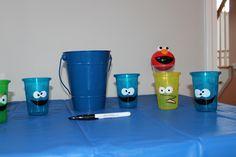 kids sesame street character cups
