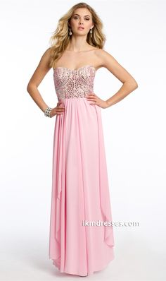 trapless Beaded Bodice Dress http://www.ikmdresses.com/Strapless-Beaded-Bodice-Dress-p87157