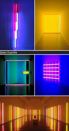 Dan Flavin light installations