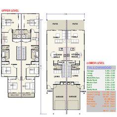 House Plan For Narrow Block Dom House Pinterest House