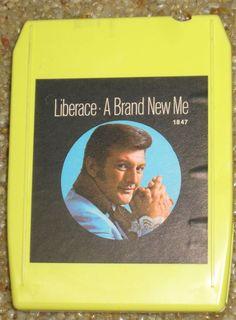 LIBERACE A Brand New Me 8 Track Stereo Tape Cartridge Warner Bro Record 8WM 1847 #warnerbrothers