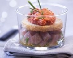 Verrines de tartare de thon et poivron rouge (facile, rapide) - Une recette CuisineAZ