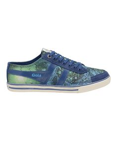 Look at this Navy & Green Comet Galaxy Sneaker - Women on #zulily today!