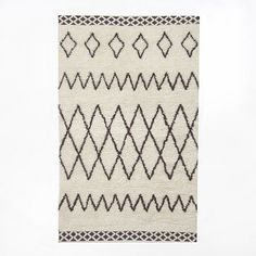 I love these Berbier and Moroccan Tribal rugs too and wool. Kasbah Wool Rug - Ivory from West Elm Moroccan Style Rug, Moroccan Rugs, West Elm Rug, Circle Rug, Textiles, Modern Area Rugs, Room Rugs, Contemporary Rugs, Bedding Shop