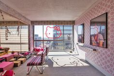 Check Out This Adorable Hello Kitty-Themed Hotel In Los Angeles - DesignTAXI.com