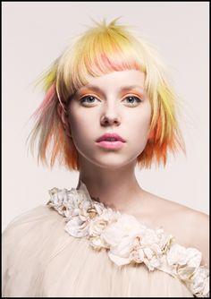Creative Hairstyles, Cool Hairstyles, Celebrity Hairstyles, Scene Hairstyles, Short Hair Cuts, Short Hair Styles, Corte Y Color, Crazy Hair, Rainbow Hair