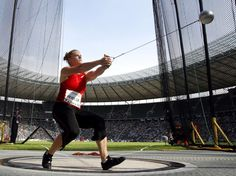 How the Hammer Throw is a like a particle accelerator!  top speed - 65mph
